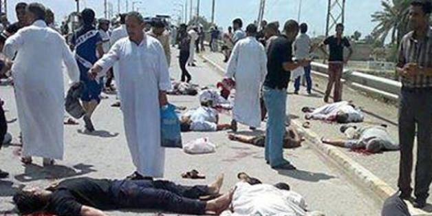 Une image du carnage publiée par le site irakien kitabat.com
