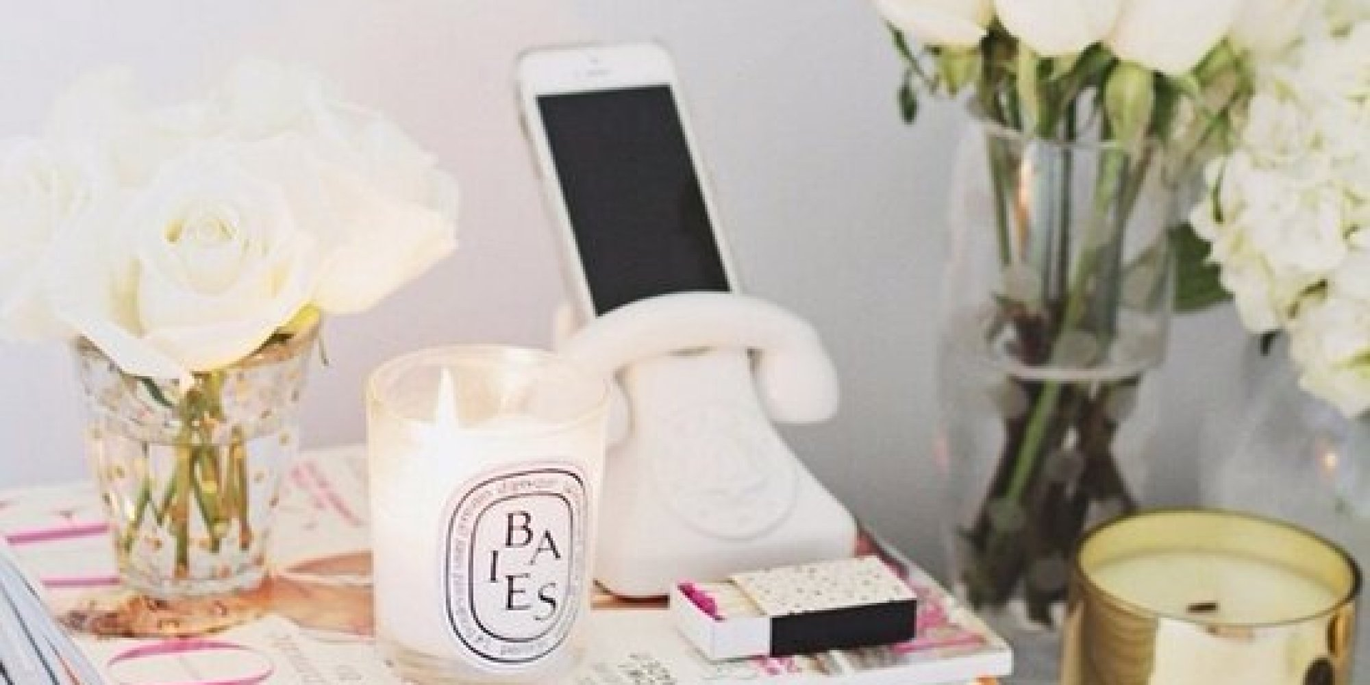 9 decor ideas for your nightstand from real-life homes | huffpost Nightstand Decor