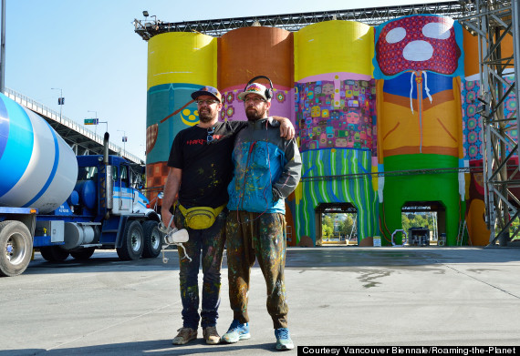 Granville Island Silos Transformed Into Giants For Vancouver Biennale (PHOTOS)