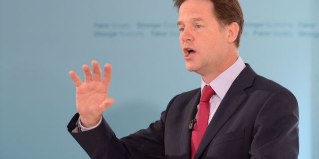 File photo dated 05/08/14 of Deputy Prime Minister Nick Clegg who has pledged to abolish prison sentences for the possession of drugs for personal use including Class A substances like heroin and cocaine.