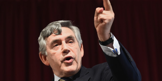 DUNDEE, SCOTLAND - AUGUST 27:  Former Prime Minister Gordon Brown attends a Better Together rally on August 27, 2014 in Dundee, Scotland. Both encouraged Scots with postal votes to vote no to independence, as postal ballots are being sent out this week to voters across Scotland.  (Photo by Jeff J Mitchell/Getty Images)