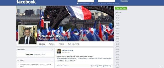 sarkozy facebook