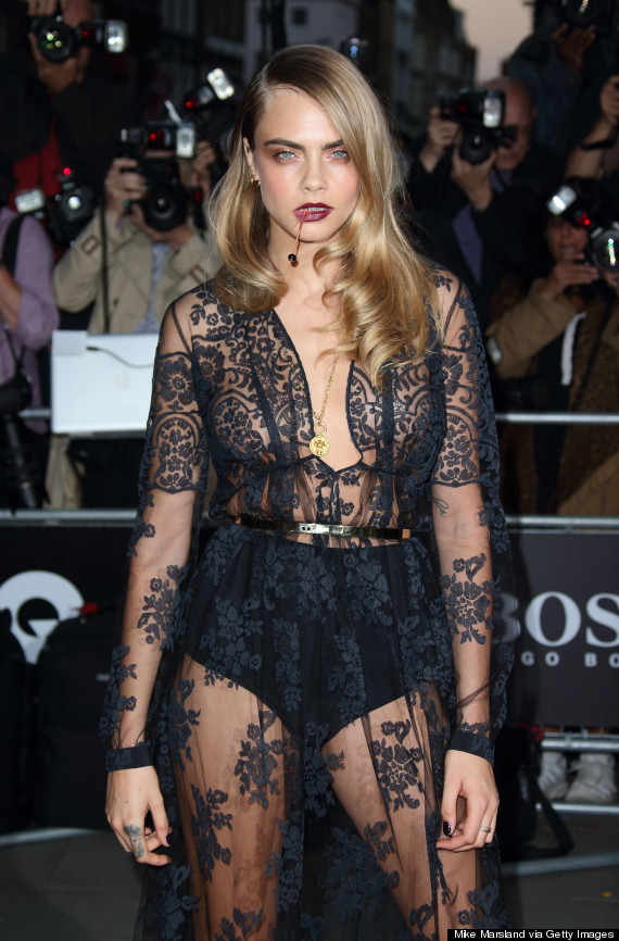 Gq Men Of The Year Awards 2014 Cara Delevingne Takes A