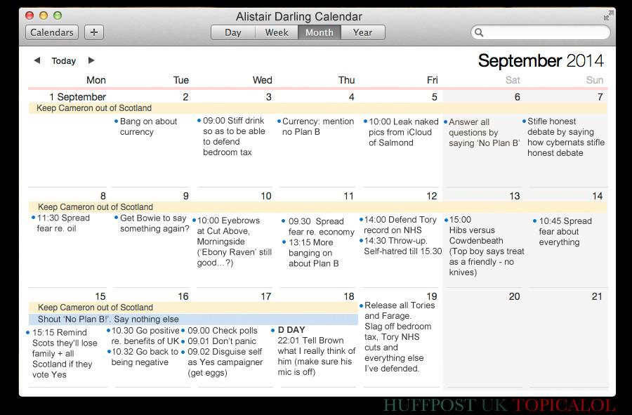 alistair darling calendar