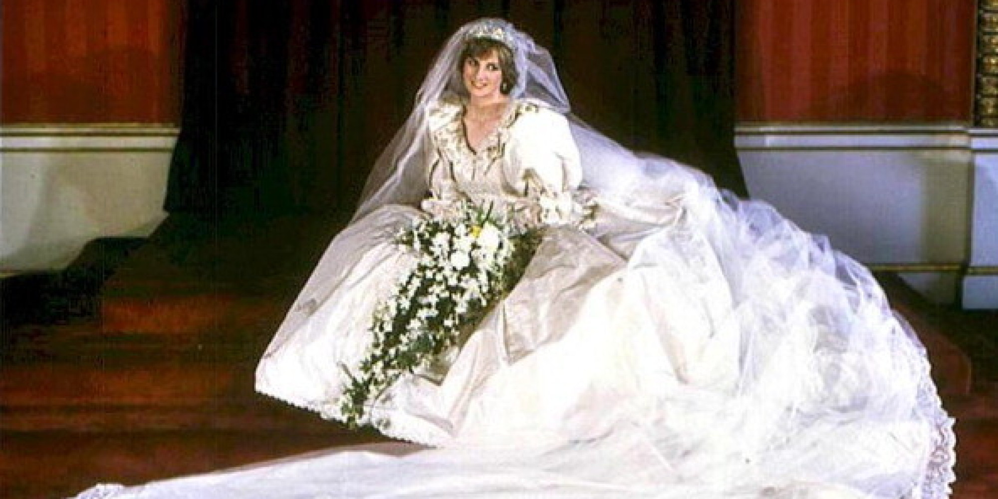 Princess dianas wedding dress handed down to william and harry princess dianas wedding dress handed down to william and harry huffpost ombrellifo Gallery
