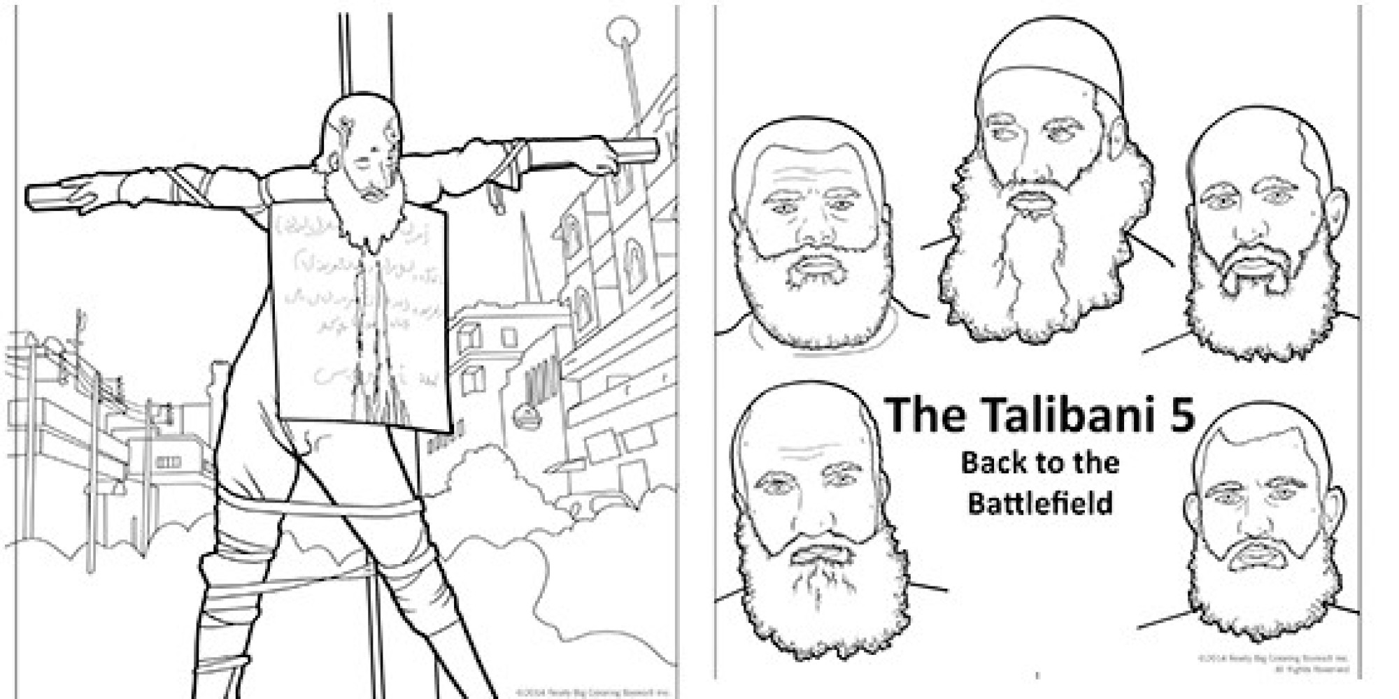 Graphic Anti Terrorism Coloring Books Introduce Kids To