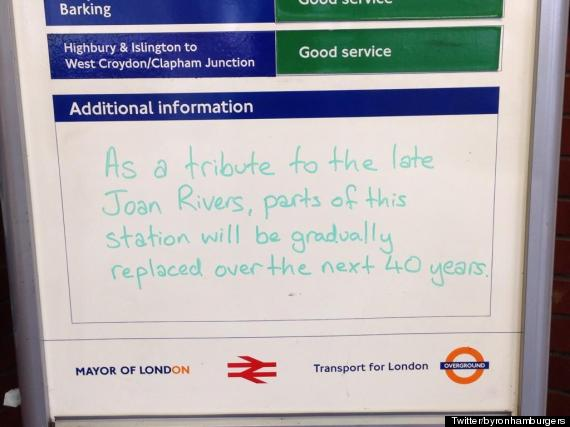 tfl sign joan rivers