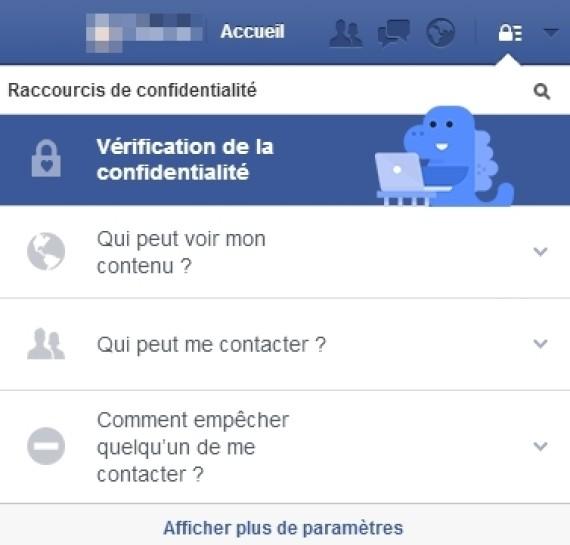 dinosaure facebook confidentialite