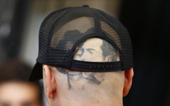 james franco chauve tatouage