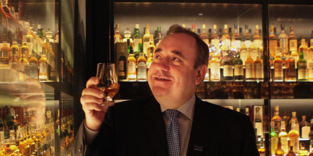 Scottish First Minister Alex Salmond takes a look round the new 3m tour of the Scotch Whisky Experience in Edinburgh, after officially opening the attraction.