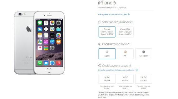 prix iphone 6