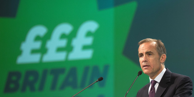 Mark Carney, governor of the Bank of England, speaks at the annual meeting of the Trades Union Congress (TUC) in Liverpool, U.K., on Tuesday, Sept. 9, 2014. Carney signaled Bank of England officials will probably increase their benchmark rate from a record low in spring next year as wage growth accelerates and the recovery gains momentum. Photographer: Simon Dawson/Bloomberg via Getty Images