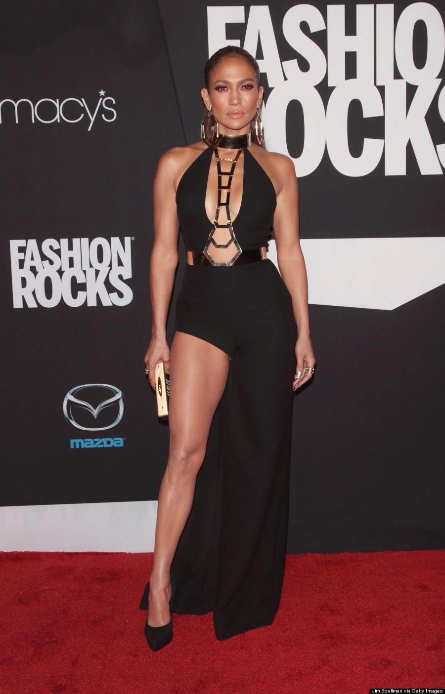 Jennifer Lopez Takes A Cut Out Slit Dress To The Next