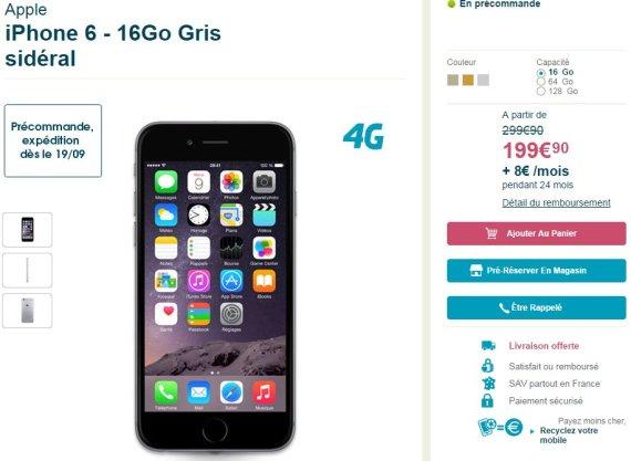 iphone 6 plus prix forfait bouygues