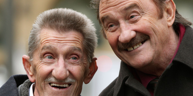 The Chuckle Brothers, Barry (left) and Paul Elliott, arrive at Southwark Crown Court in London, where they wil appear as witnesses in the trial of Former DJ Dave Lee Travis who is accused of 13 counts of indecent assault dating back to between 1976 and 2003, and one count of sexual assault in 2008.