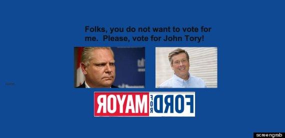 doug ford for mayor website