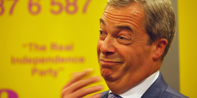 Ukip leader Nigel Farage attends a rally at the Corn Exchange, Edinburgh, where he boasted that he could snatch two seats in Scotland for the European Parliament as his party tries to make a breakthrough north of the border.