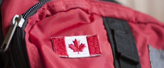 canadian flag luggage