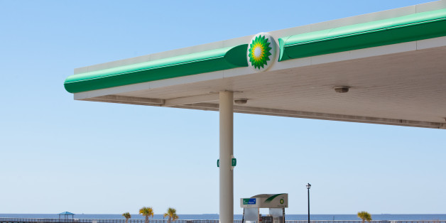 A BP Plc gas station stands empty across from the Gulf of Mexico in Long Beach, Mississippi, U.S., on Monday, March 5, 2012. BP Plc may face as much as $17.6 billion in civil pollution fines and possibly billions of dollars more in criminal penalties as its settlement with businesses and individuals harmed by the 2010 Gulf of Mexico oil spill shifts the focus to government claims. Photographer: Julie Dermansky/Bloomberg via Getty Images