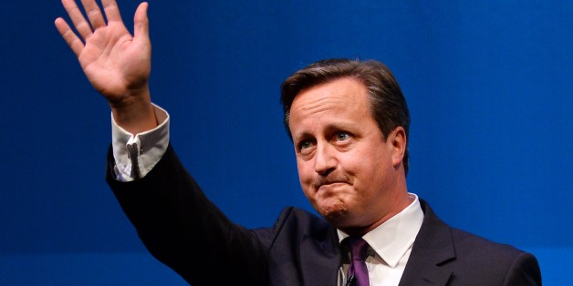 British Prime Minister David Cameron gestures after addressing a press conference in Aberdeen, Scotland, on September 15, 2014, ahead of the referendum on Scotland's independence. British Prime Minister David Cameron on Monday pleaded with Scots to vote against independence in a referendum as Scotland enters the most decisive week in its modern history.  AFP PHOTO / BEN STANSALL        (Photo credit should read BEN STANSALL/AFP/Getty Images)