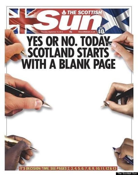 scottish sun front independence
