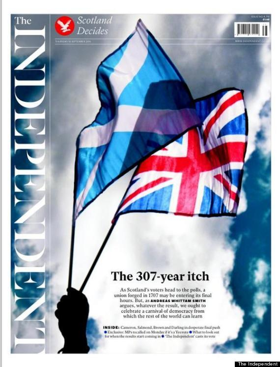 the independent front scottish independence
