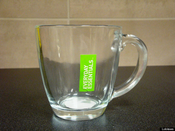 loblaws glass mug