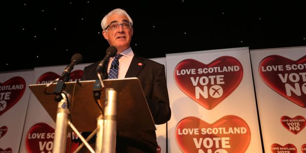 Leader of the Better Together campaign Alistair Darling makes a speech at The Marriot hotel in Glasgow. Scotland has rejected independence. Glasgow voted for independence but the margin of victory was not large enough to give Alex Salmond and his campaign the momentum they need.