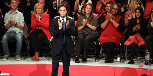 Labour leader Ed Miliband making his keynote speech to delegates during his Party's annual conference at Manchester Central Convention Complex.