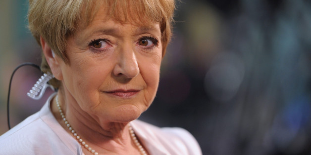 Margaret Hodge, Labour MP for Barking gives a television interview as votes for her Barking constituency are counted at the Goresbrook Leisure Centre on May 7, 2010 in Barking, England. After 5 weeks of campaigning, including the first ever live televised leader's debates, opinion polls suggest that the UK is facing the prospect of a hung parliament for the first time since 1974.  (Photo by Ian Gavan/Getty Images)