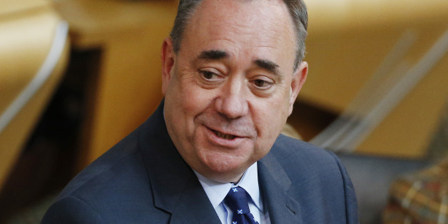 First Minister Alex Salmond makes a statement at the Scottish Parliament in Edinburgh as MSPs return to Holyrood for the first time since Scotland voted to reject independence.