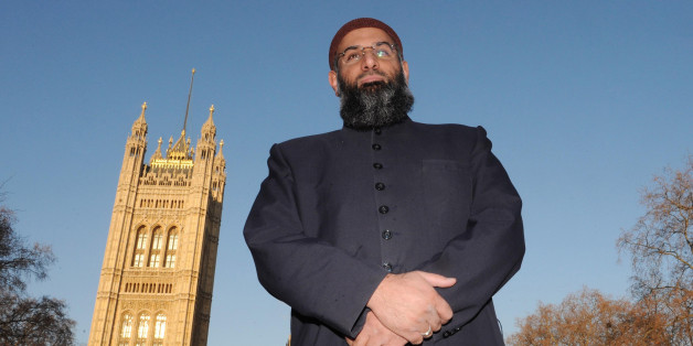 """Anjem Choudary of Islam4UK outside the Palaces of Westminster in central London.  Any protest march which offended the families of soldiers killed and injured in Afghanistan would be considered """"completely inappropriate"""" by Gordon Brown, Downing Street said today."""