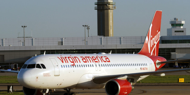 The Virgin America flight made an unscheduled landing in Omaha (file picture)