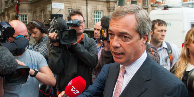 UKIP Leader Nigel Farage speaks to the media in Westminster, central London, following the Scottish electorate's rejection of independence.