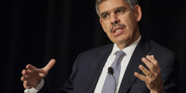 Mohamed El-Erian, chief executive officer and co-chief investment officer of Pacific Investment Management Company LLC (PIMCO), speaks during the 2013 Bretton Woods Committee International Council Meeting in Washington, D.C., U.S., on Thursday, Oct. 10, 2013. El-Erian said developing nations will remain volatile because of U.S. political turmoil. Photographer: Pete Marovich/Bloomberg via Getty Images