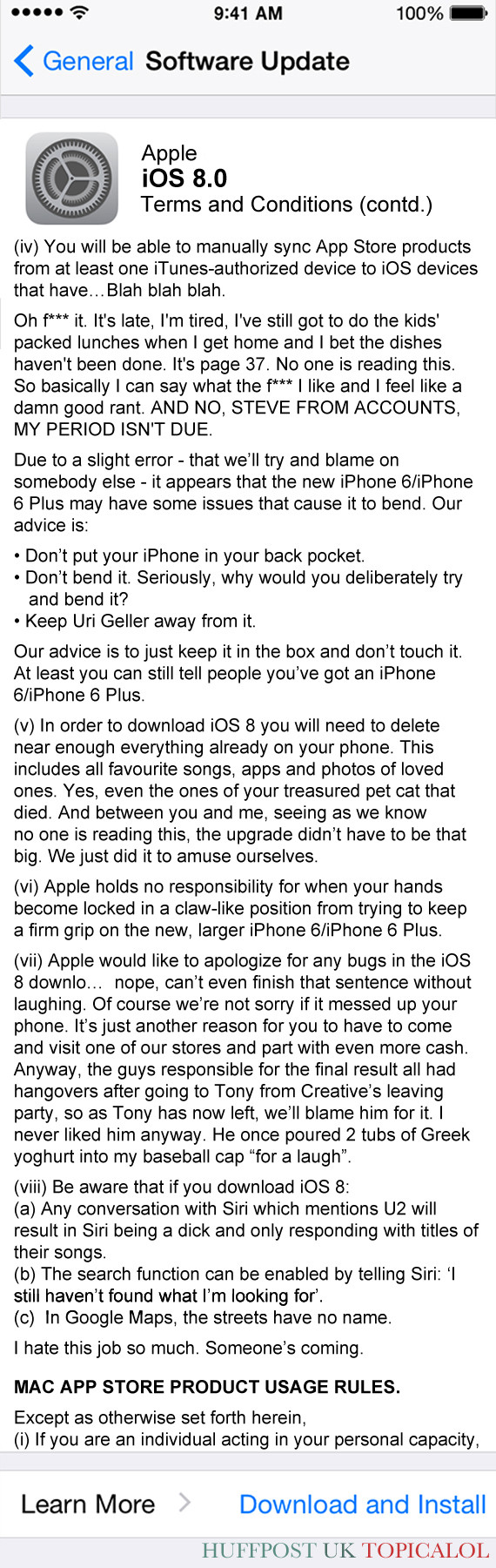 apple ios 8 spoof