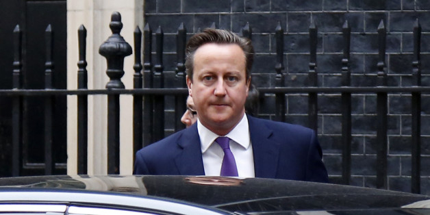 LONDAN, UNITED KINGDOM - SEPTEMBER 26: David Cameron Prime Minister of the United Kingdom departs from Downing Street ahead of a parliamentary debate on the UK joining air strikes against ISIL in Iraq in Londan, United Kingdom on September 26, 2014. (Photo by Yunus Kaymaz / Anadolu Agency / Getty Images)