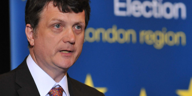 Gerard Batten of UKIP talking after his election to the European Parliament at City Hall in central London, this evening.