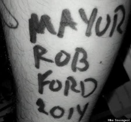 rob ford autograph