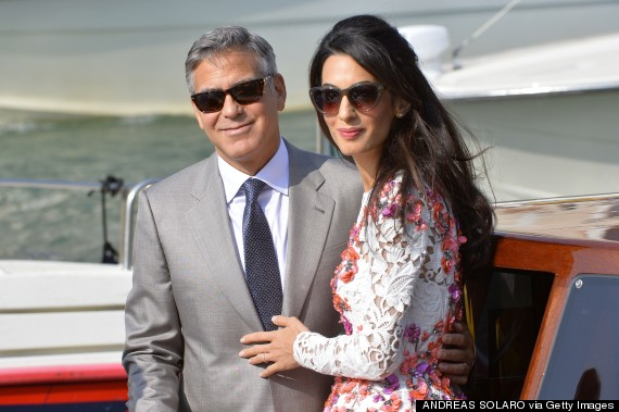 George Clooney And Amal Alamuddin Married Newlyweds Show Off
