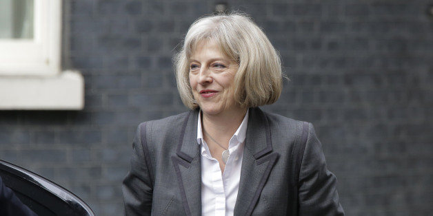 Britain's Home Secretary Theresa May arrives at British Prime Minister David Cameron's official residence at 10 Downing Street in central London, Thursday, Sept. 18, 2014. Polls have opened across Scotland in a referendum that will decide whether the country leaves its 307-year-old union with England and becomes an independent state. (AP Photo/Lefteris Pitarakis)