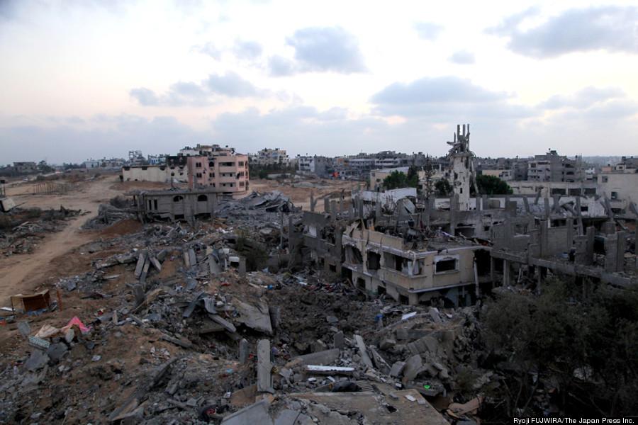 パレスチナ・ガザ地区頭部の激戦地シュジャイヤ