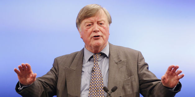 Ken Clarke addresses the 2014 Scottish Conservative Party conference at the Edinburgh International Conference Center in Edinburgh.