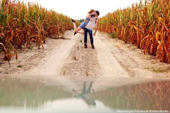 casal beijo aéreo fotos