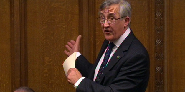 Sir Gerald Howarth MP speaks during a tribute to Baroness Margaret Thatcher in the House of Commons, London.