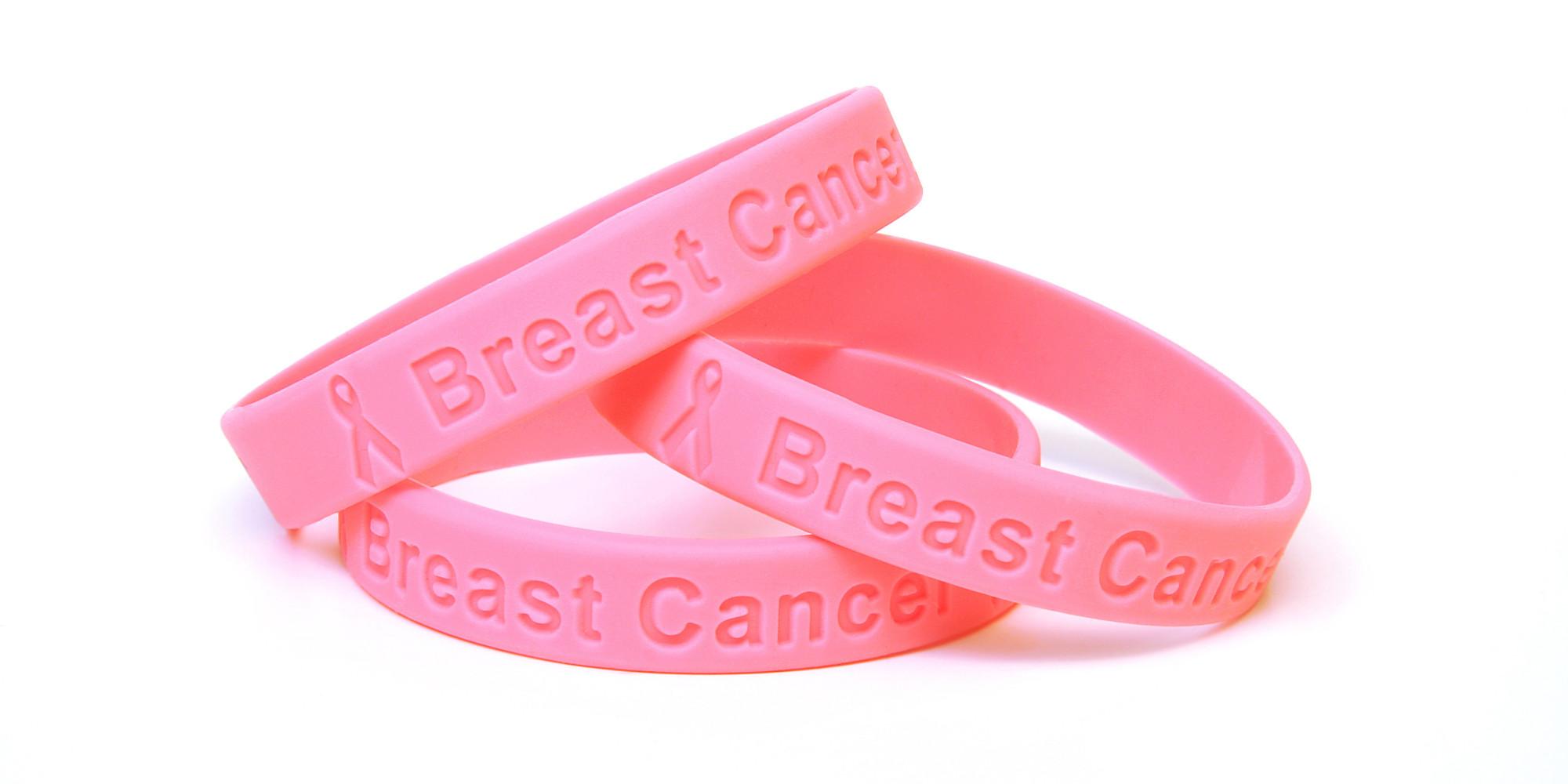 Breast cancer awareness wristband uk