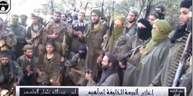 Capture d'écran de la dernière vidéo d'allégeance des Jund Al-Khilafa