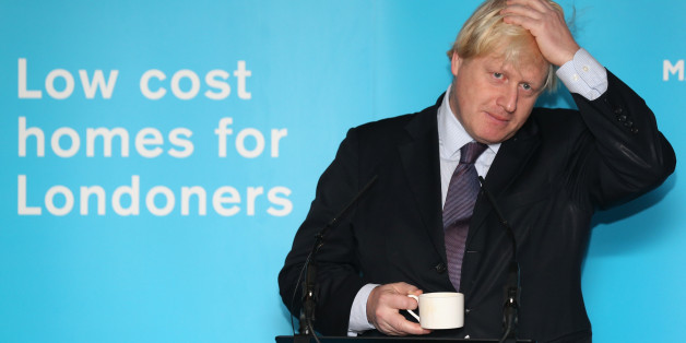 LONDON, ENGLAND - NOVEMBER 25:  Boris Johnson, the Mayor of London, delivers a speech after pouring concrete at the construction site of the 'Greenwich Square' housing development on November 25, 2013 in London, England. Mr Johnson assisted the residential building work, approximately half of which will be low-cost rent or buy accommodation, as he launched his new draft Housing Strategy for the capital. The Mayor aims to address issues around London's rapidly increasing housing needs and in part