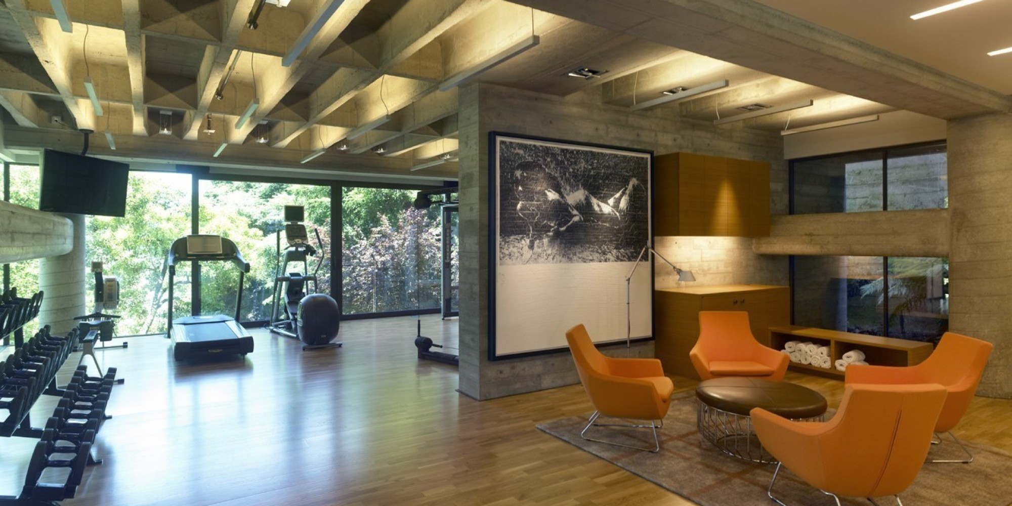 6 Impressive Home Gyms That Offer The Ultimate Personal Fitness Oasis |  HuffPost