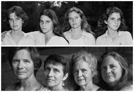 Emouvant, 4 sœurs seront photographiées pendant 40 ans O-BROWN-SISTERS-570